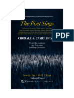 The Poet Sings Program