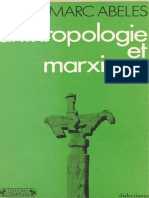 ABELES - Anthropologie et Marxisme