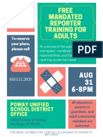free mandated reporting training seminar  stopping child abuse and neglect