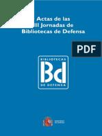 III Jornadas de Bibliotecas de Defensa