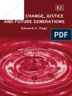 Edward a. Page-Climate Change, Justice and Future Generations-Edward Elgar Publishing (2006)