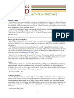 Documents CFW Author Instructions