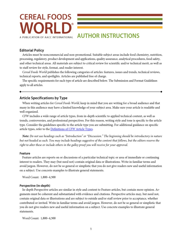 Documents CFW Author Instructions