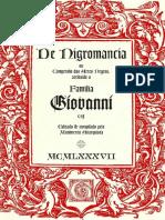 Necromancia, Grimório Giovanni - Suplemento