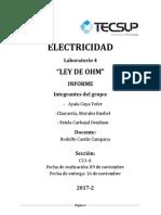 Informe 4 de La Ley de Ohm Electricidad