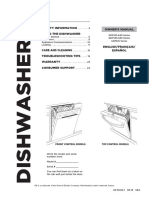 GE Dishwasher User Manual GDT58CSGF2WW