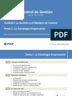 T1.18.II. La Estrategia Empresarial