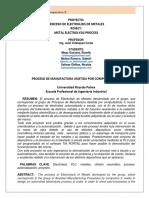 Procesos de Manufactura Asistida Por Computadora II_Electrolisis de Metales