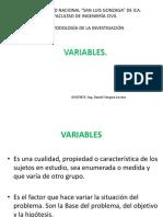 VARIABLES - METODOLOGÍA DE LA INVESTIGACIÓN