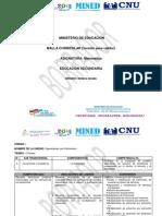 Malla Curricular de Matemática - Octavo Grado Por Unidad y Ejes Transversales (VP)