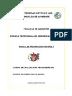 Manual de Progrmacion HTML 5