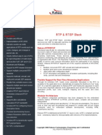 Rtp Rtsp Data Sheet