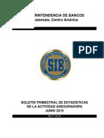 02 Boletín Trimestral de Estadísticas a Junio 2015 (1)