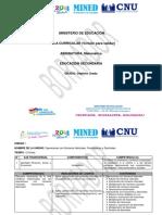 Malla Curricular de Matematica - Séptimo Grado Por Unidad y Ejes Transversales (VP)
