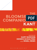 (Bloomsbury Companions) Gary Banham, Dennis Schulting, Nigel Hems-The Bloomsbury Companion to Kant-Bloomsbury Academic (2015)
