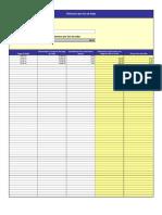 Planilla de Excel de Calculo de Km Por Litro
