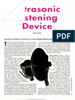 Ultrasonic Listening Device