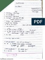 German Handwritten Notes