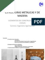 Estructuras Metalicas y de Madera. Elementos de Construcciones Civiles Carrera_ Ingeniero Agrimensor