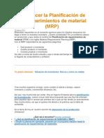 Apuntes Como Hacer La Planificación de Los Requerimientos de Material