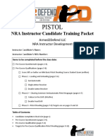 NRA Pistol Instructor Candidate Packet Armed2Defend