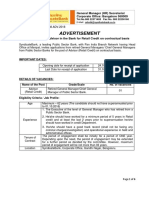 Advertisement Engagement of Advisor for Retail Credit 23102018