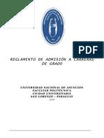 Reglamento Admision Carreras Grad