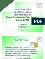 Principios Basicos Lean Manufacturing Ing Juan Santiago