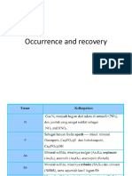 Occurrence and Recovery