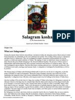 Salagram Kosha Chapter ONE