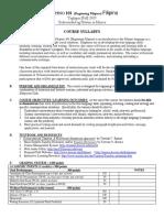 Fil101 Sample Syllabus Revised