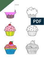 cupcakes colouring // Mewarna Kek Cawan