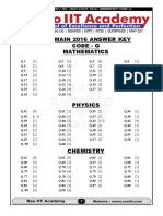 Jee Main 2016 Solutions Code g
