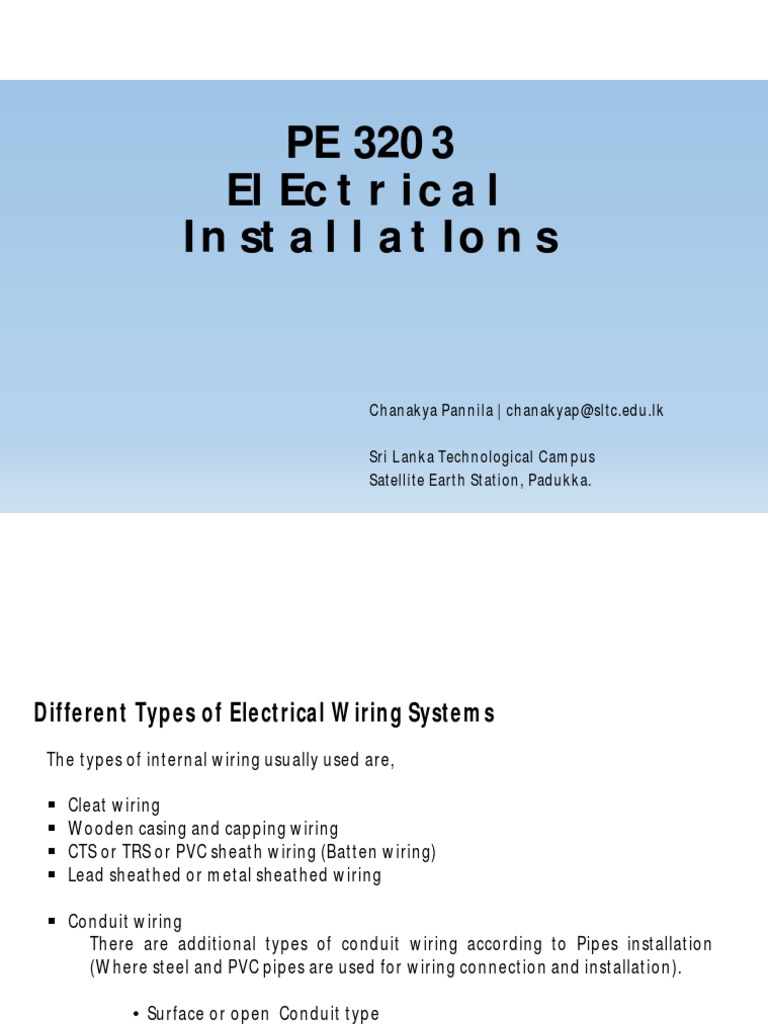 PE 3203_LEC02 | Electrical Wiring | Electrical Conductor on
