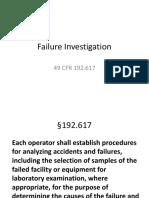 Failure Investigation