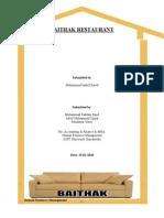 Human Resource for a Baithak Restaurant