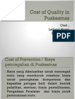 Cost of Quality in Puskesmas