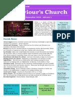 st saviours newsletter - 2 december 2018