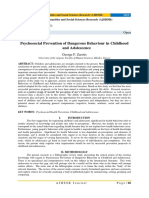 Psychosocial Prevention of Dangerous Behaviour in Childhood and Adolescence