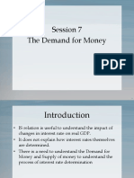 Session 7 (Demand for Money)