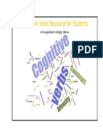 cognitive verbs resource for students and parents