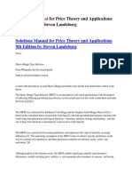 Solutions Manual for Price Theory and Applications 9th Edition by Steven Landsburg
