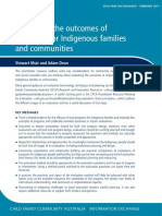 Evaluation Theories and Approaches - Outcomes within Aboriginal Contexts