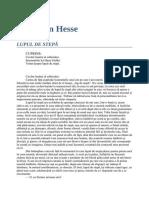 Hermann Hesse Lupul de Stepa