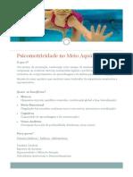 Psicomotricidade No Meio Aquático_Flyer