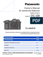 LUMIX G9 Mirrorless Camera Kit, 20.3 Megapixels plus 80 Megapixel High-Resolution Mode, 5-Axis Dual I.S2 - DC-G9LK