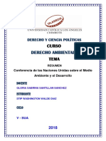 Conferencia de Las Naciones Unidas Sobre El Medio Ambiente y El Desarrollo