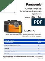 LUMIX TS7 Waterproof Tough Camera Manual