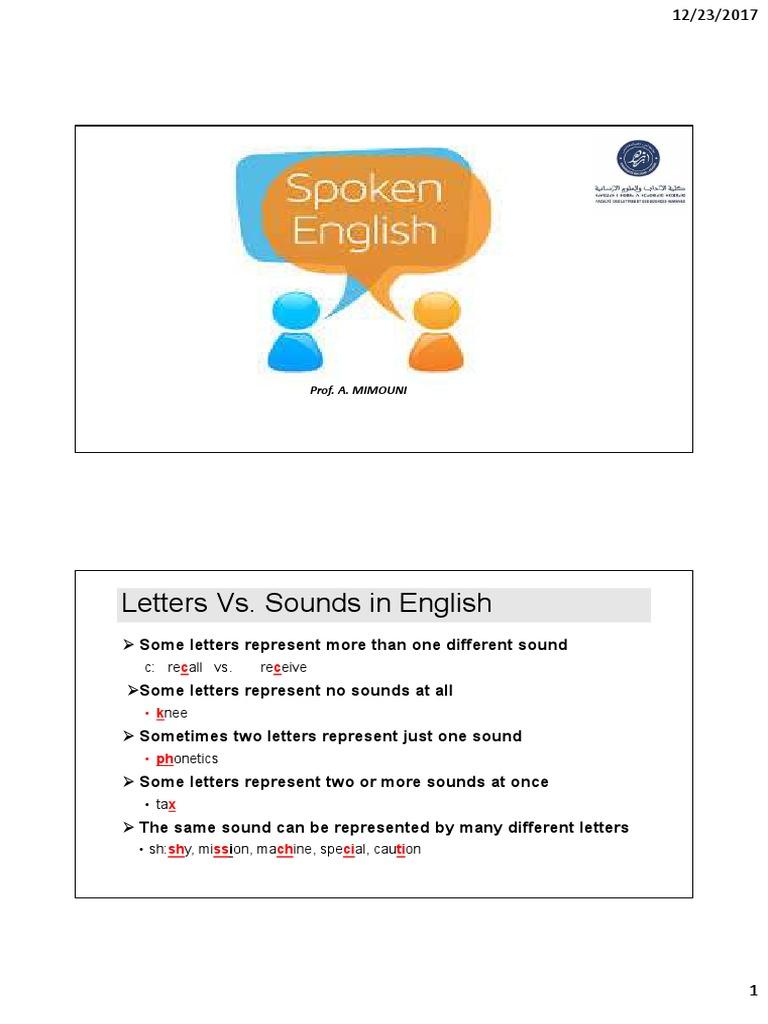 Spoken English 1 | Stress (Linguistics) | Consonant