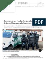 Facundo Jones Huala, El Mapuche Violento Que Le Declaró La Guerra a La Argentina y Chile - 21-01-2017 - Clarín.com